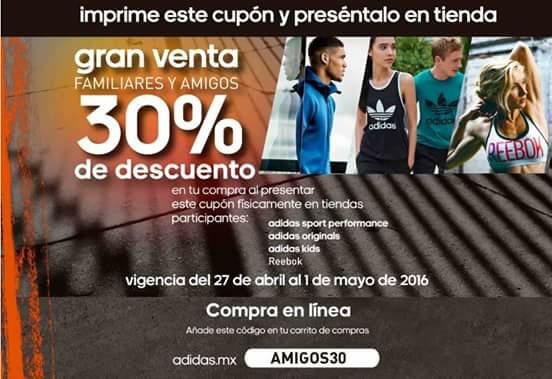 Adidas y Reebok en línea: descuento del 30% con cupón