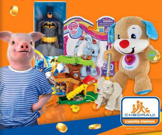 Promoción día del niño en Chedraui: bonificación en juguetes y bicicletas