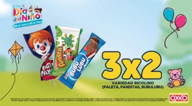 Oxxo: 3x2 en variedad de dulces Ricolino