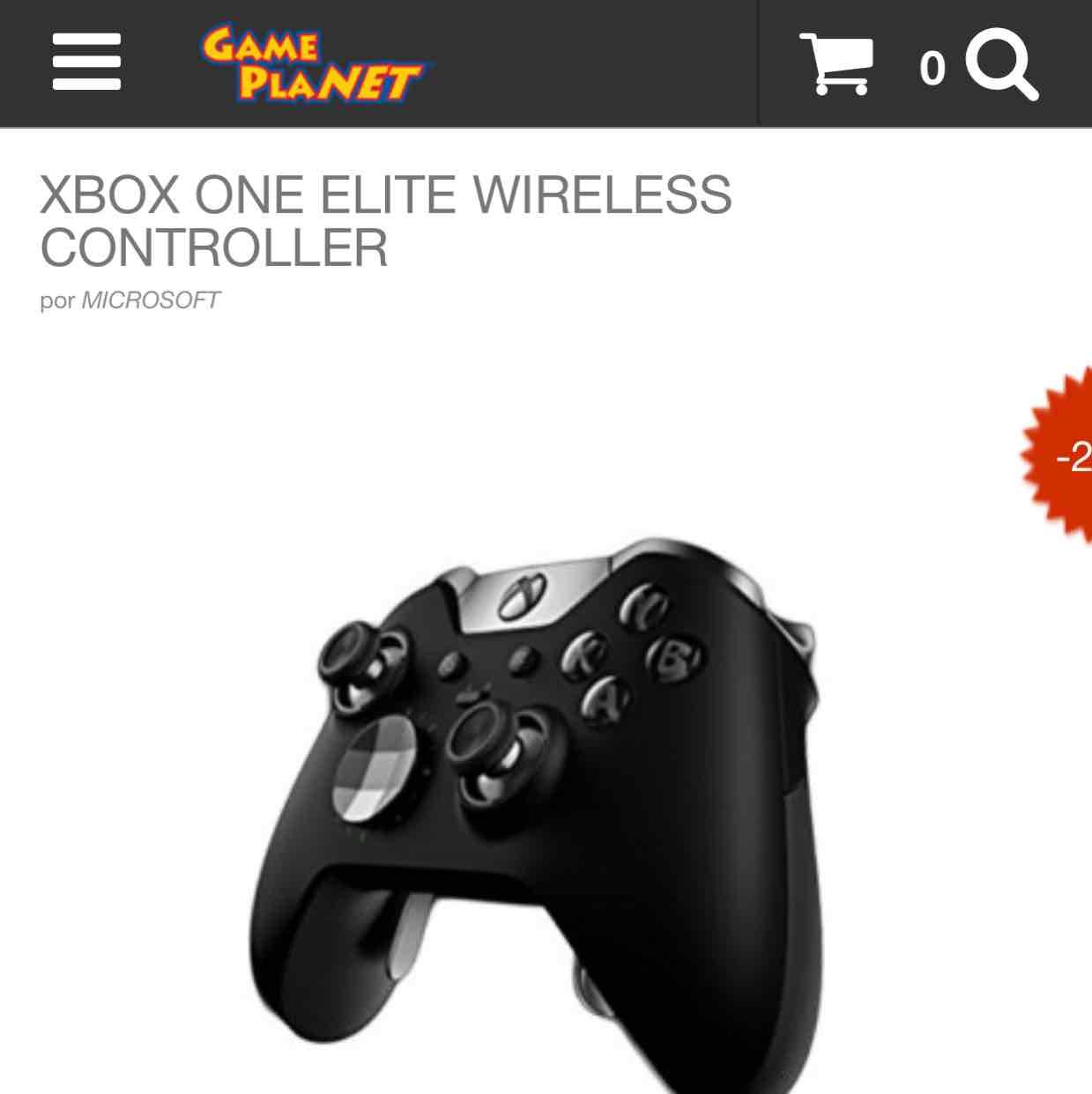 Game Planet: control Xbox one élite $1,980 y envió gratis