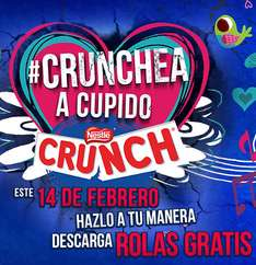 Canciones gratis comprando chocolates Crunch