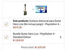 Amazon México: Guitar Hero Live  PS4+ Guitarra extra $1,363 con Banamex