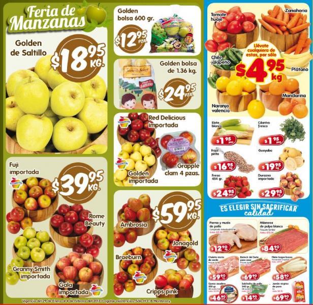 Frutas y verduras en HEB: tomate $4.95, manzana golden $18.95 y más