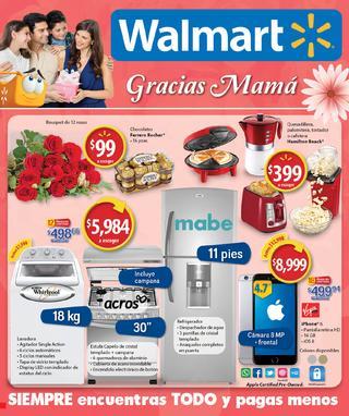 """Walmart: Folleto """"Día de las Madres"""" del 2 al 10 de mayo del 2016"""