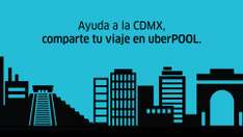 Uber: 2 viajes GRATIS en UBERPool para mañana por doble Hoy no Circula en CDMX (para todos)