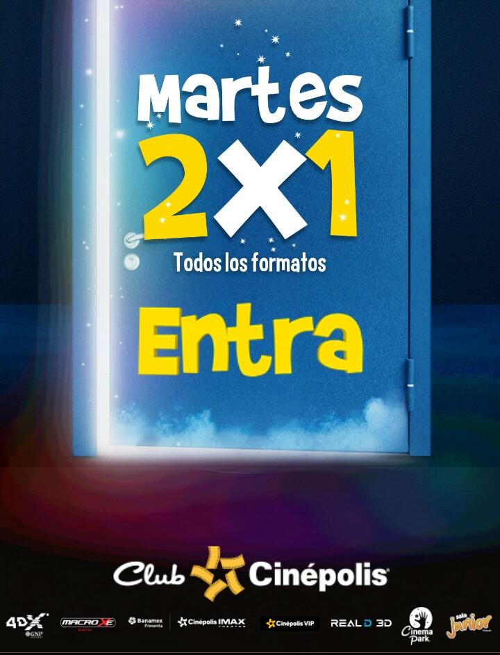 Cinépolis: 2x1 los martes con Tarjeta Club Cinépolis en TODOS los formatos