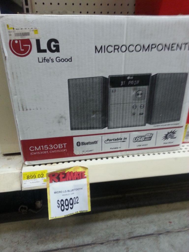 Bodega Aurrerá Navolato Sinaloa: Microcomponente LG a $899.02