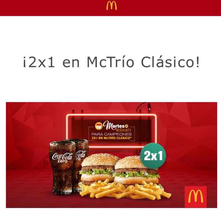 McDonald's: cupón 2x1 en Mctríos Clásicos