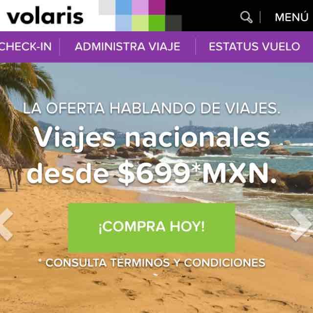 Volaris: Viajes Nacionales desde $699