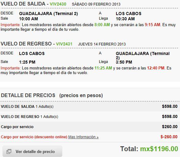Venta especial Vivaaerobus. Ejemplos: DF a Cancún redondo $1,256, GDL a Cabo $1,196 y +