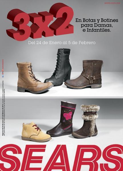 Sears: 3x2 en botas y botines para mujeres y niños