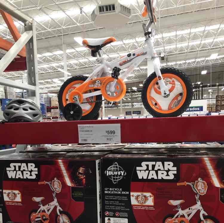 Sam's Club: Bicicleta Star Wars R12 30cm 3-5años de edad $599