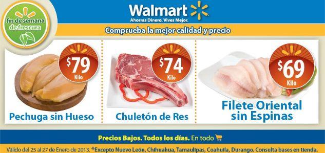 Fin de semana de frescura Walmart enero 25: chuletón de res $74 y más