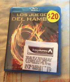 Bodega Aurrerá: película Blu-ray The Hunger Games a $20