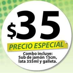 Subway: combo de sub de jamón, refresco y galleta por $35