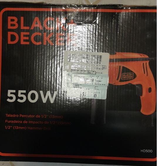 Walmart Merida Montejo: Taladro Percutor (rotomartillo) Black & Decker de 550 W en segunda liquidación a $325.02
