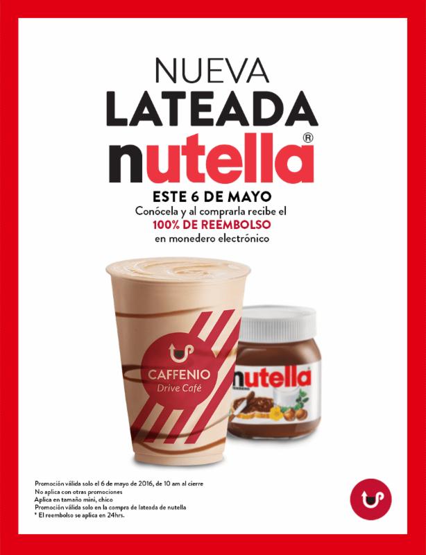 Caffenio: 100% de reembolso en monedero comprando lateadas de nutella