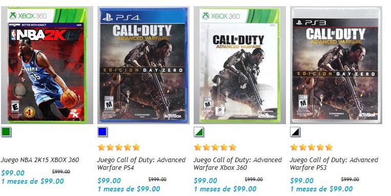 Netshoes: CallOfDuty Advanced para PS3, PS4 y XBOX 360 en $79.20 (al agregarlo al carrito)