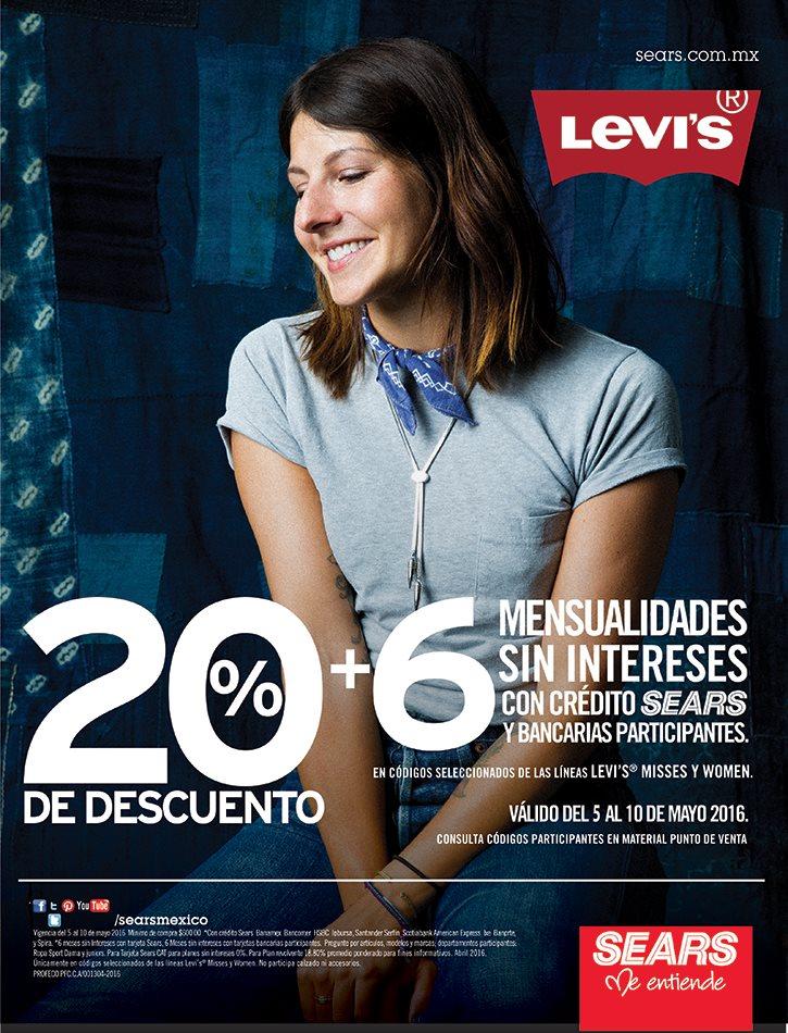 Sears: 20% de descuento en Levi's Misses y Women + 6 MSI