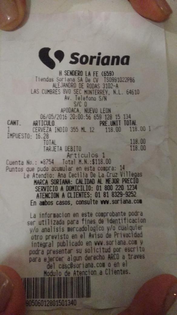 Soriana: 12 pack cerveza Indio a $118
