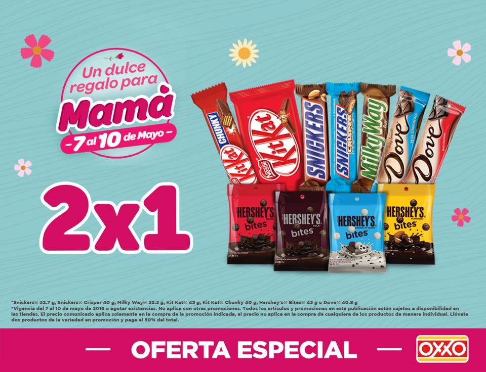 Oxxo Nacional: 2x1 en chocolates