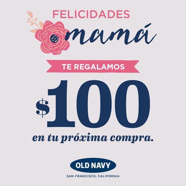 Old Navy: Cupón de $100 comprando mínimo $500 en tiendas.