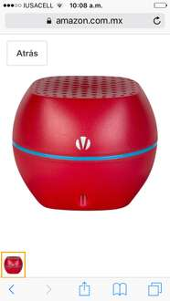 Amazon: bocina Bluetooth Vivitar roja