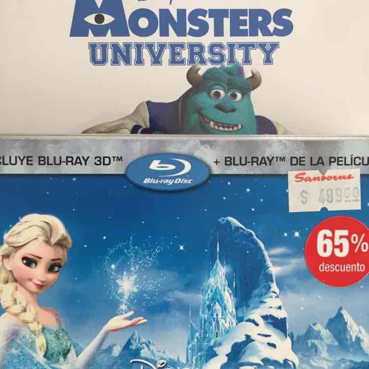 Sanborns: hasta 65% películas. Ejemplos Frozen, Cars 2 a $169