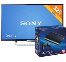 "Walmart: PS3 de 500GB + LED Smart TV Sony de 32"" $6,990"