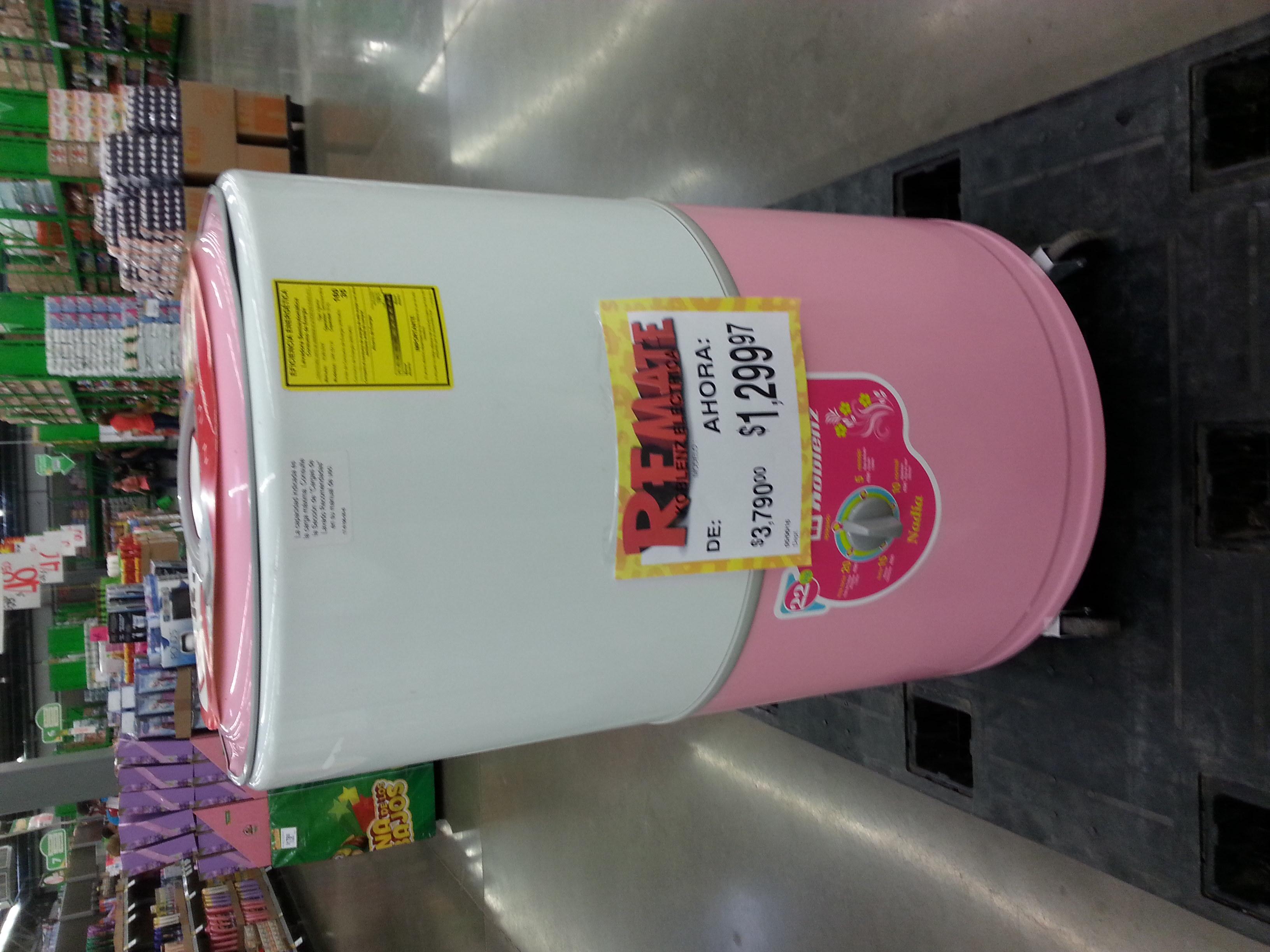 Bodega Aurrerá Abastos Culiacan: Lavadora 22kg $1,299.97 Excelente regalo para este dia de las madres y a ligerar un poco la carga de una ama de casa