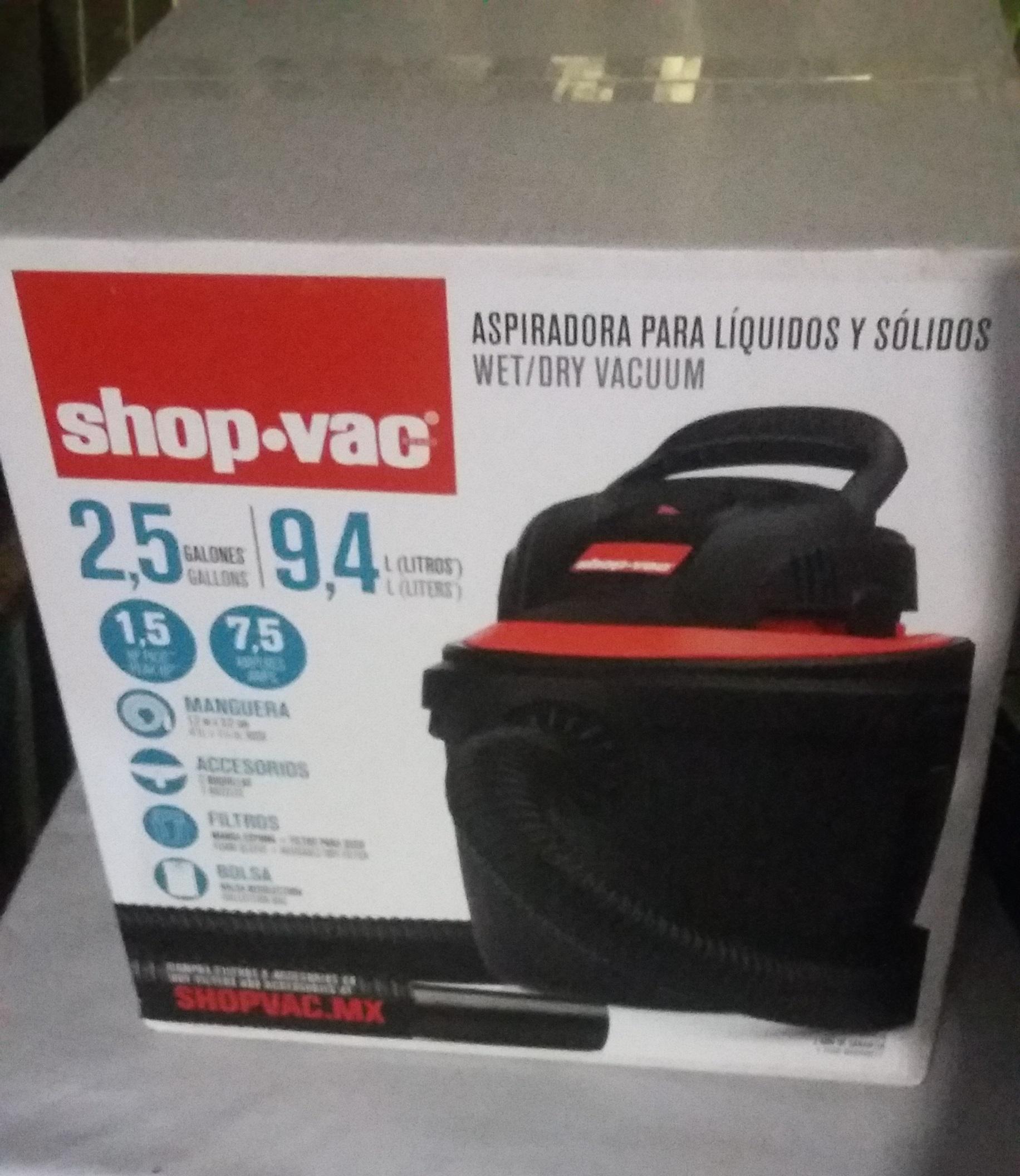 Bodega Aurrerá: Aspiradora Shop-vac 2.5 gal a $309