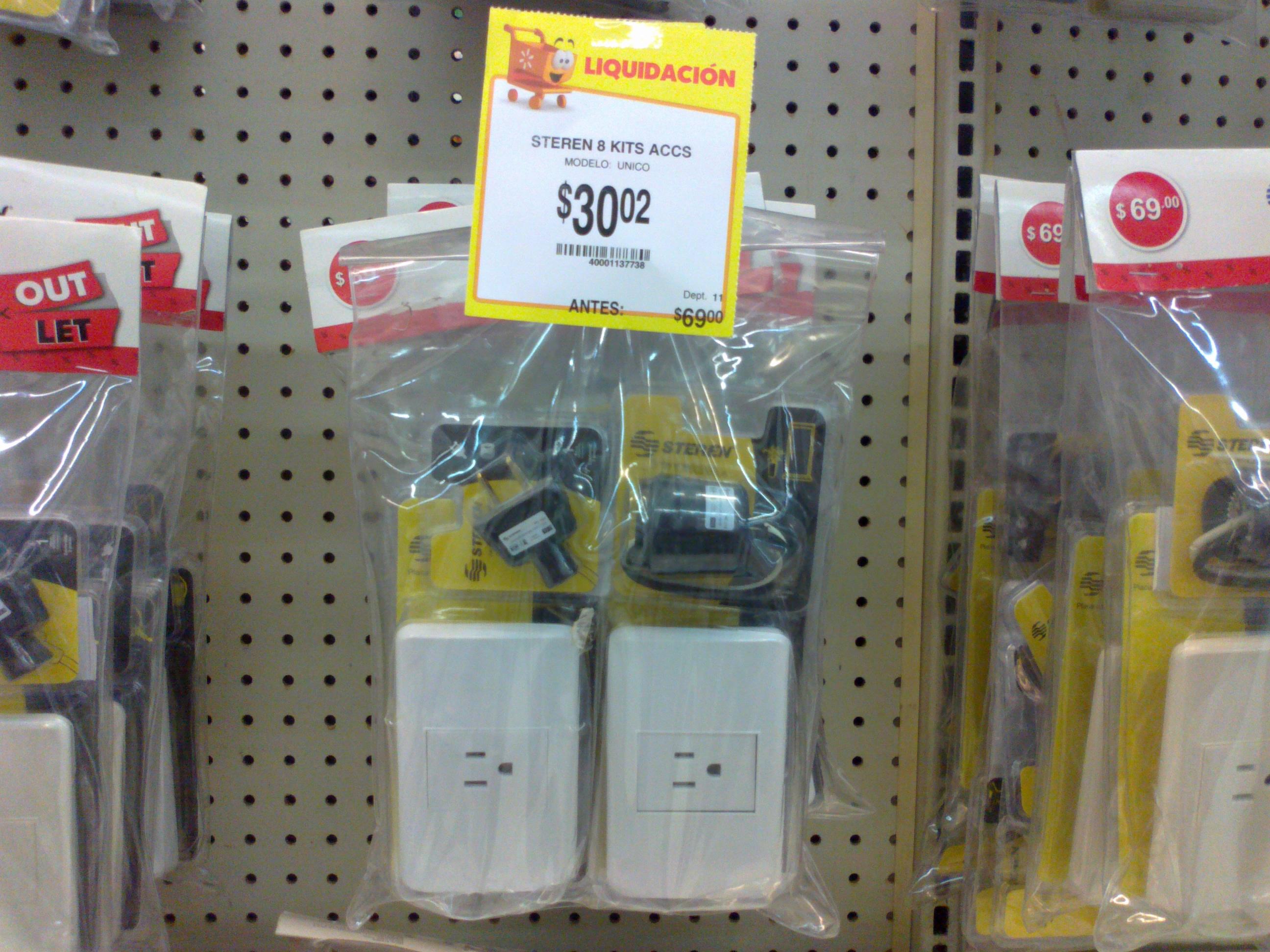 Walmart: paquete de enchufe, clavija y socket a $30.02, candado Philips 240bp a $59