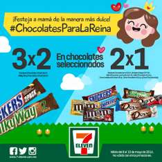 7 Eleven: 2x1 en Snickers, M&M's, Milky Way, Dove y más chocolates
