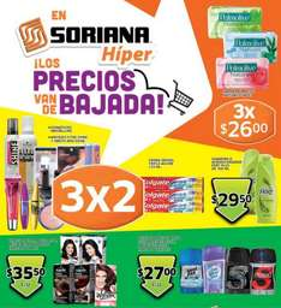 Folleto Soriana: 3x2 en cosméticos Maybelline, 20% de descuento en colchones y más