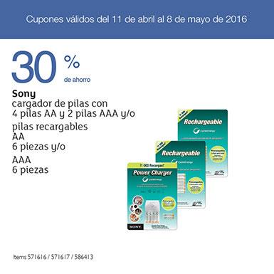 COSTCO: Cargador de pilas Sony con 4 pilas AA y 2 pilas AAA