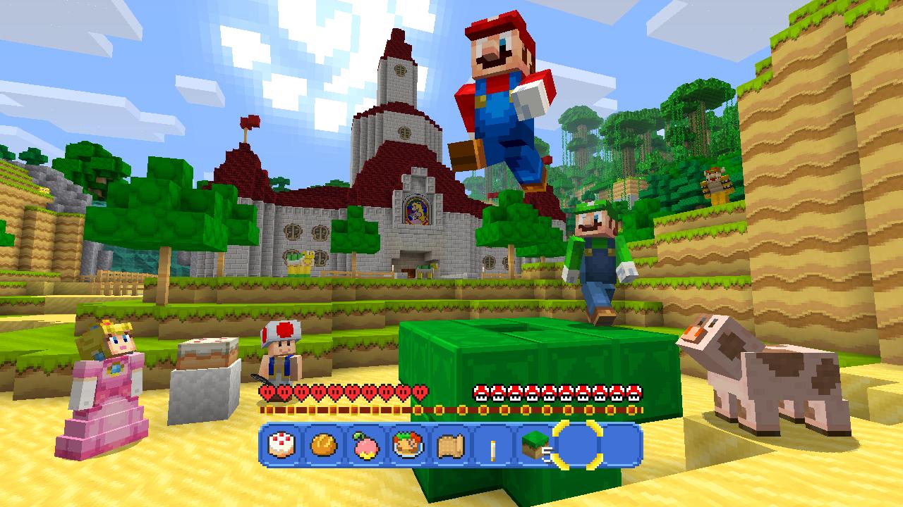 Minecraft Wii U Edition: Super Mario Mash-Up Pack gratis a partir del 17 de Mayo