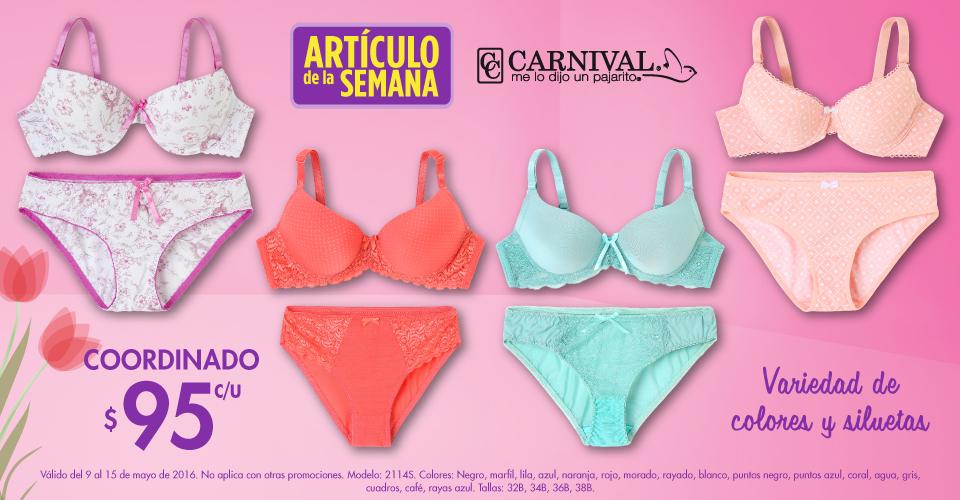 Suburbia: Artículo de la semana, coordinado de la marca Carnival a $95