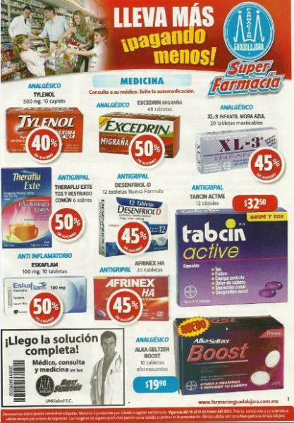 Folleto Farmacias Guadalajara: 3x2 en Naturella, Tampax, chocolates Nestlé y más