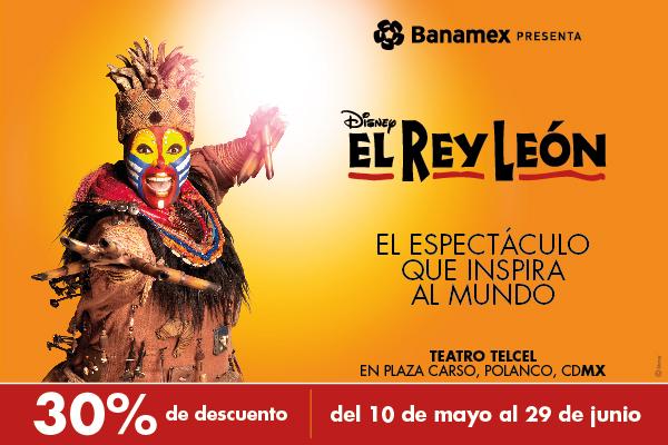 Ticketmaster: 30% de descuento Rey León