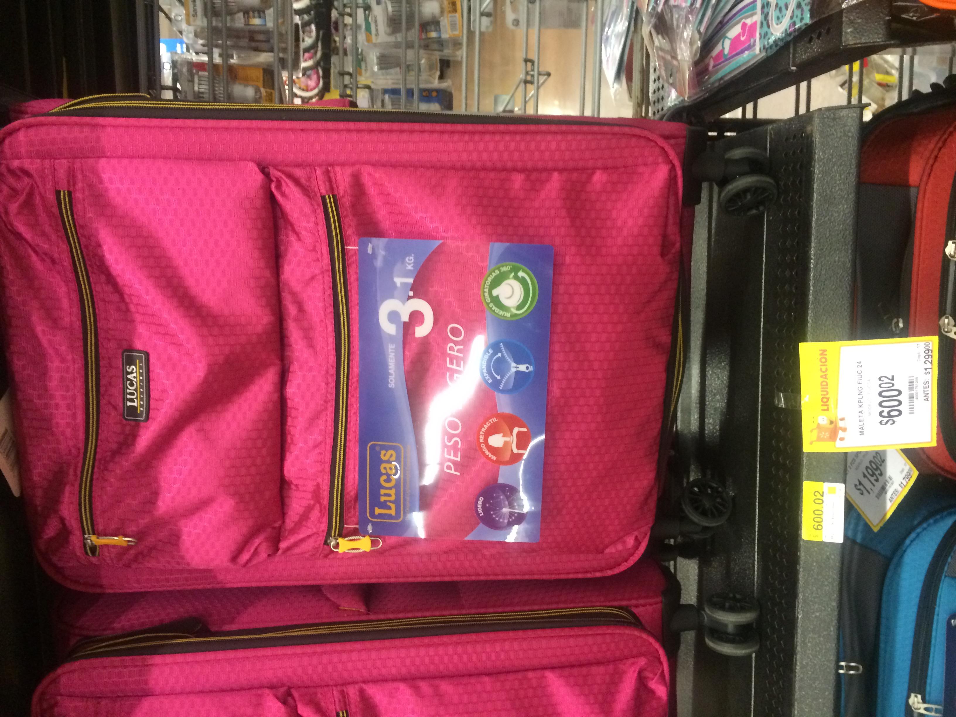 """Walmart Perinorte: Maleta de viaje 24"""" en $600.02"""