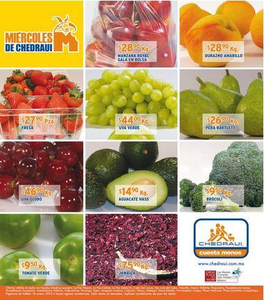 Miércoles de frutas y verduras Chedraui enero 16: tomate $4.90, plátano $5.90 y más