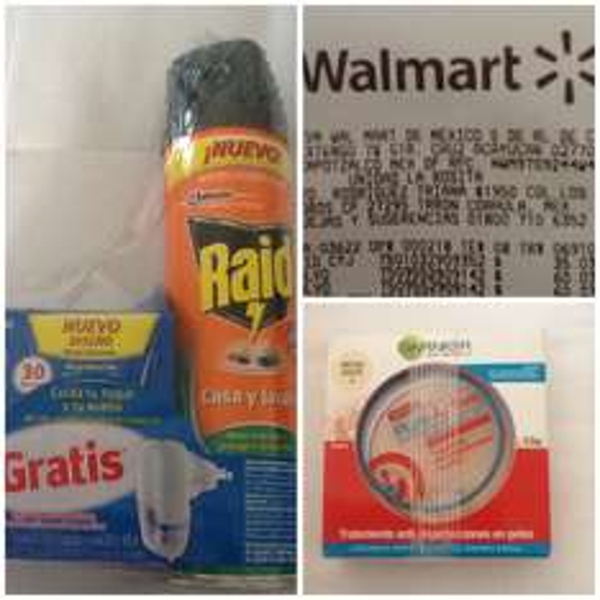 Walmart Triana: Combo Raid Spray-Aparato líquido $35.03 y Polvo Pure Active Garnier $60.03