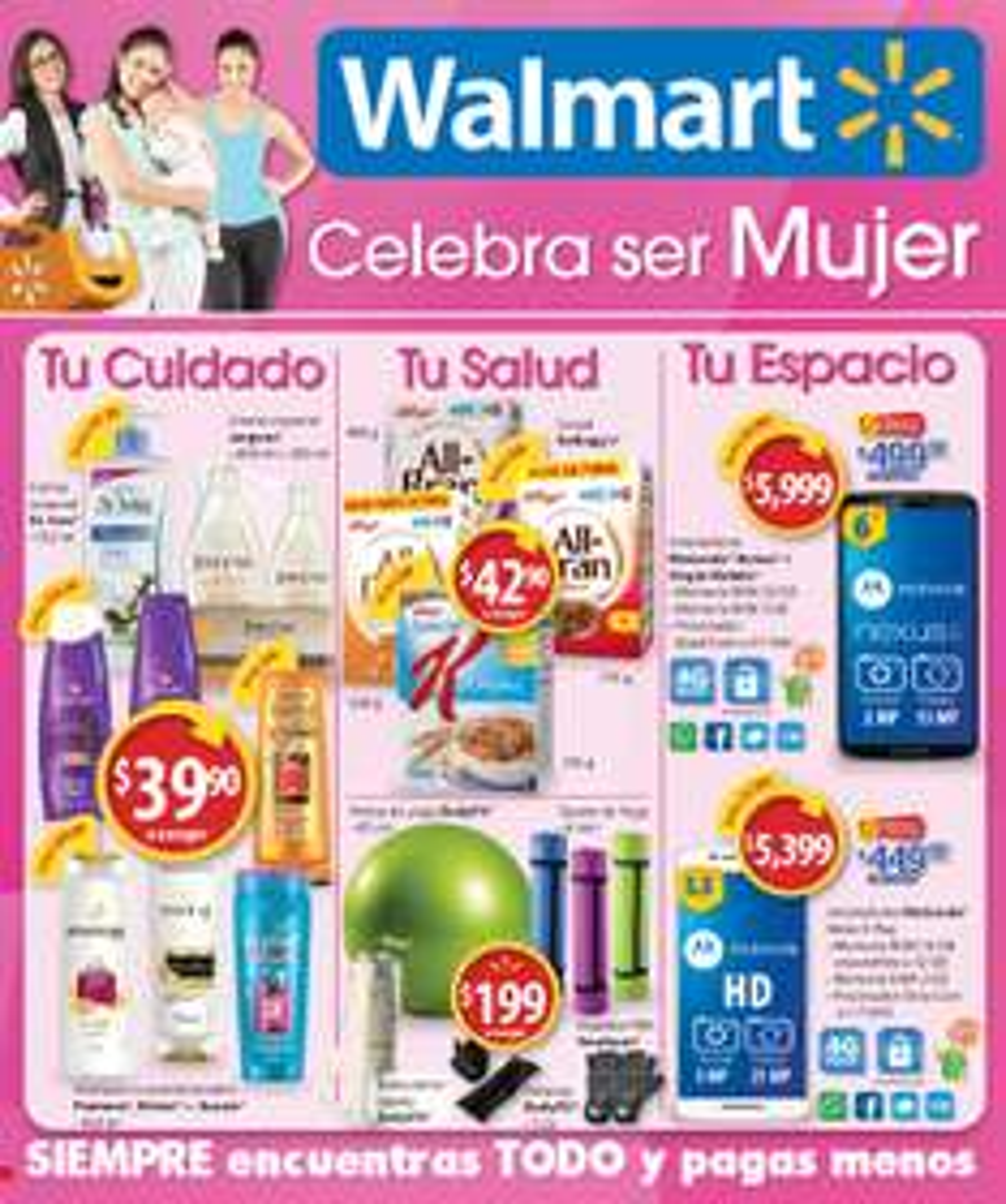 Walmart: Folleto del 11 al 24 de mayo celebra a la mujer