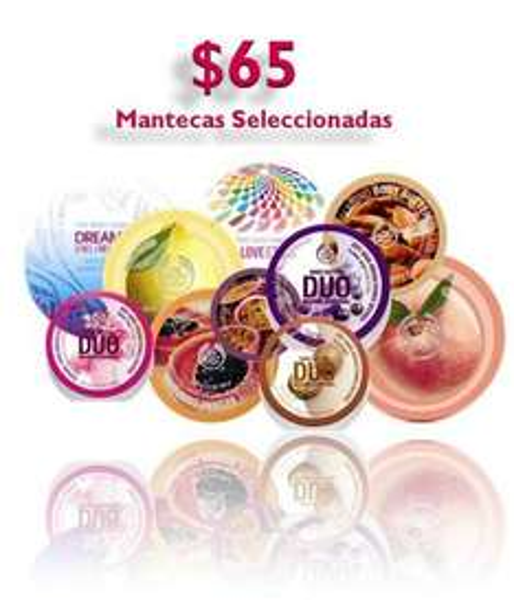 The Body Shop: mantecas seleccionadas a $65
