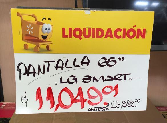 Walmart GDL sucursal Gran Patio: varias liquidaciones de televisiones