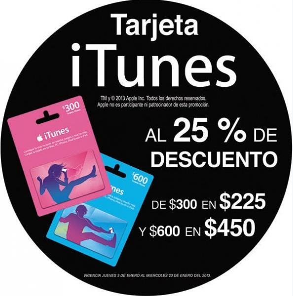 7 Eleven: 25% de descuento en tarjetas iTunes