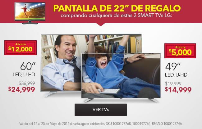 """Best Buy: Pantalla 22"""" de regalo al comprar otra televisión"""