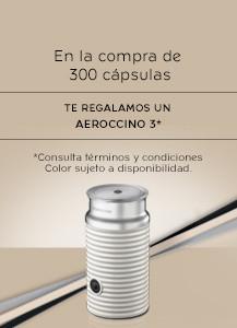 Nespresso: compra 300 cápsulas y te regalan un Aeroccino 3