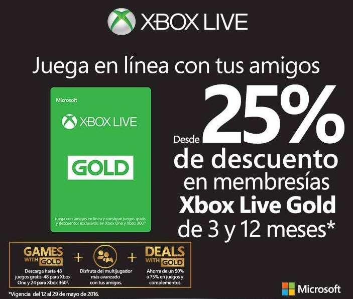 Xbox Live Gold: descuento en membresías de 3 y 12 meses en varias tiendas