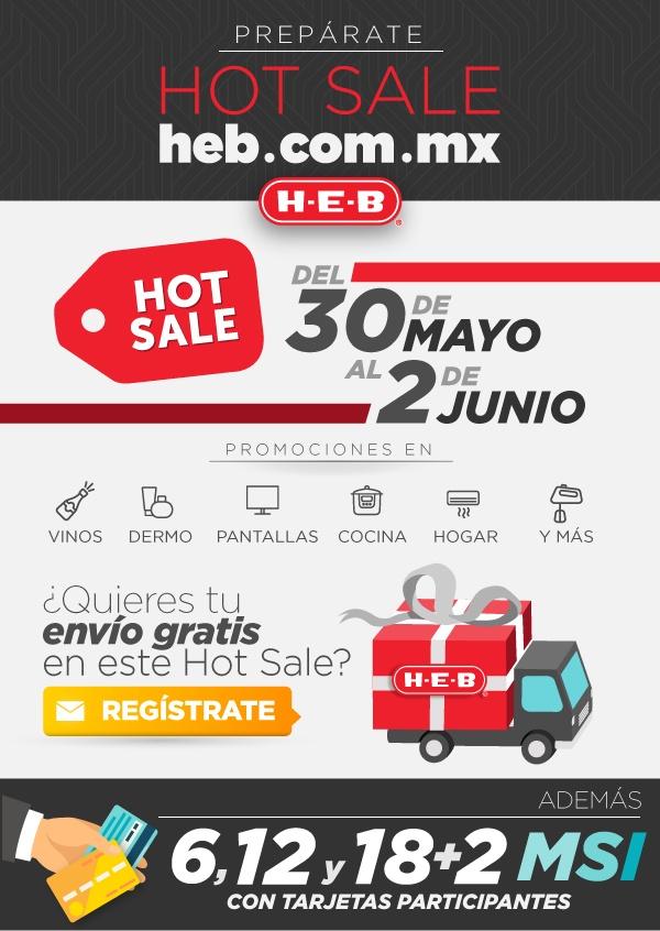 HEB en línea: cupón de envío gratis para Hot Sale 2016
